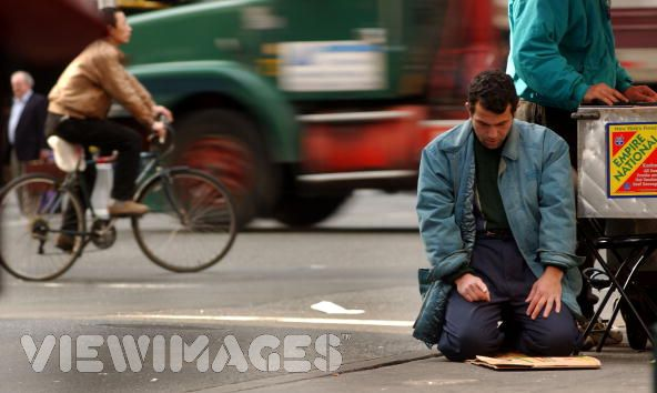 Muslim man Praying on Road