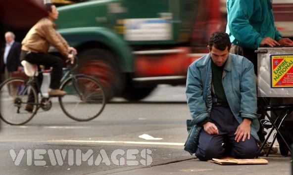 Muslim man Praying onRoad